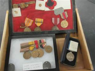 Group of US Military Medals incl WWII
