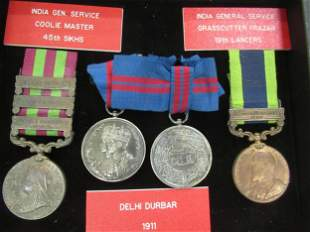 4 Military Medals incl India General Service