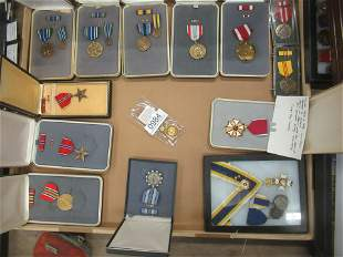 Box Lot of Mostly US Medals