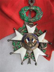 French Medal with Enamel