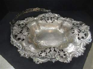 Handled and Reticulated Sterling Silver Basket