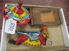 Group of Antique Toys incl. Blocks, Marx Monkey