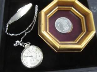 1921 Morgan Silver Dollar & Watch