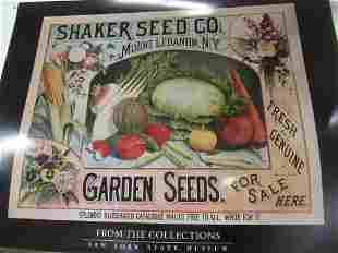 16 Posters Circa 1990s of Shaker Seed Company