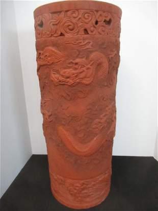 Late 19th C. Asian Dragon Umbrella Stand