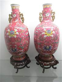 A Pair of Large Antique Porcelain Chinese Vases