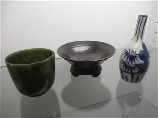 Chinese Blue and White Small Vase, Bowl, Etc