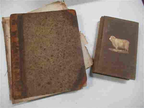 2 Antique Books incl. 1830 Book w/ Colored Illust