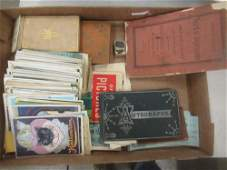 Box Lot with Old Postcards incl. Halloween