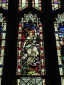 Leaded and Stained Glass Window with Angel
