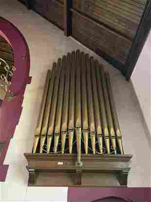 Group of 13 Pipes for a Pipe Organ