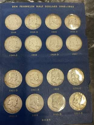 Complete Set of Franklin Halves, Approx 35pcs