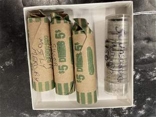 4 Rolls of Silver Dimes, Some Mercury