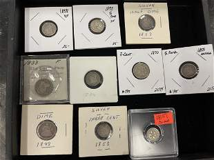 Lot of Silver Coins incl 1858 VF