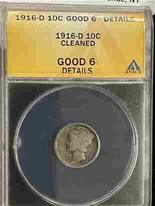 1916-D Mercury Dime