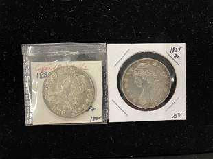1825 & 1830 Liberty Half Dollars
