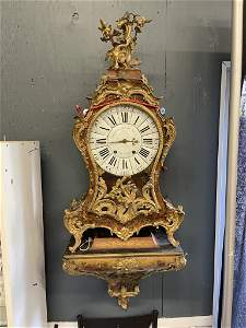 Early 18th C. French Painted Bracket Clock