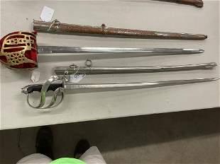 2 Swords incl. E Horster with Engraved Blade