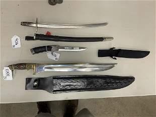2 Contemporary Knives & Short Sword Blade