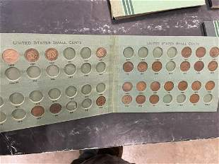Several Books of U.S. Small Cents etc