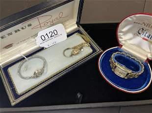 2 Ladies 14k Gold Watches & Mans Watch