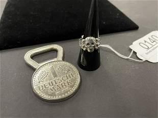 Silver Skull Ring & Bottle Opener