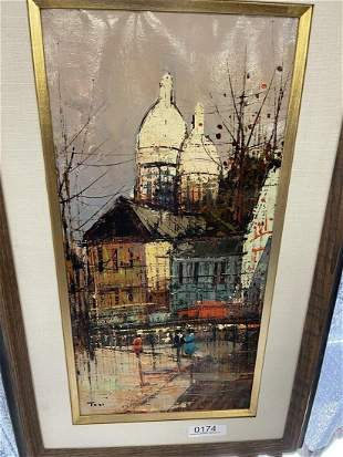 Tosi Signed Oil on Canvas Modernist Painting