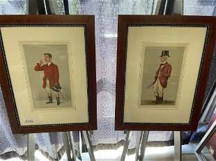 """Pair Vanity Fair """"Spy"""" Prints"""