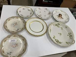 Limoge Plates w/ Cherubs w/ more Plates