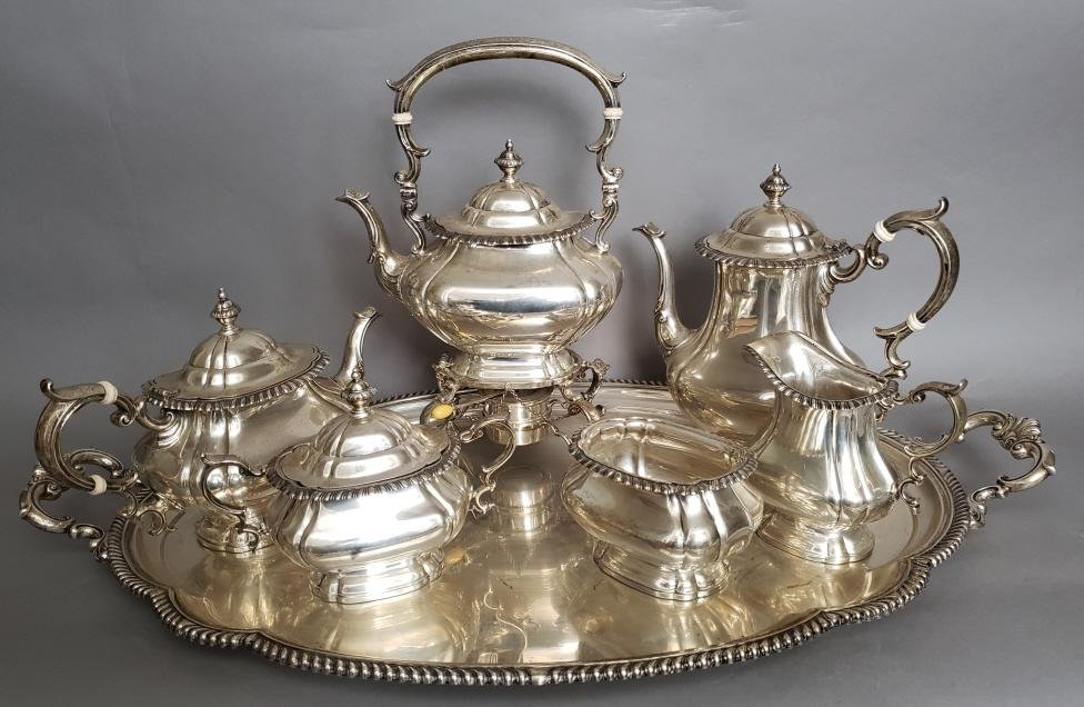 """ Gorham "" Sterling 7 pc. Tea Set - 307 t oz tw"