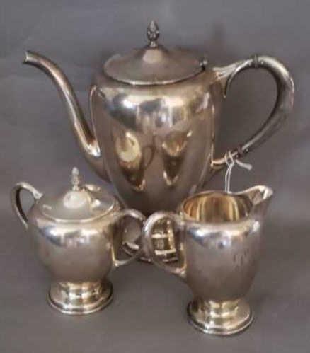3 Piece Sterling Tea Set - Fred Hisch - 33.65 toz