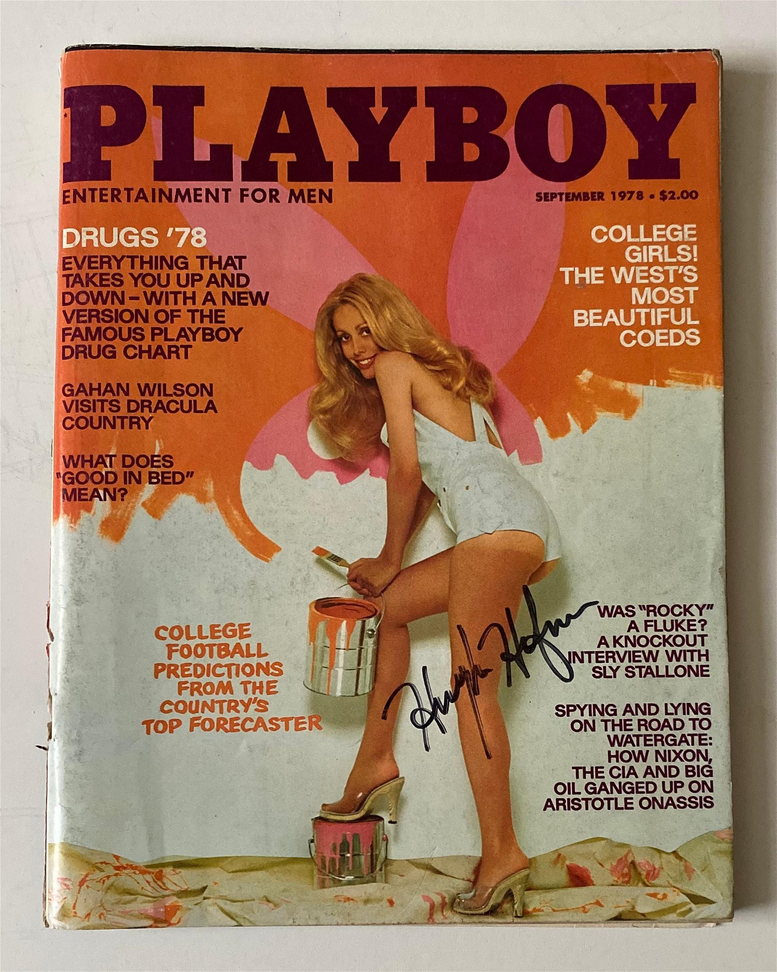 Hugh Hefner Signed Playboy Magazine Sep 1978 Certified.