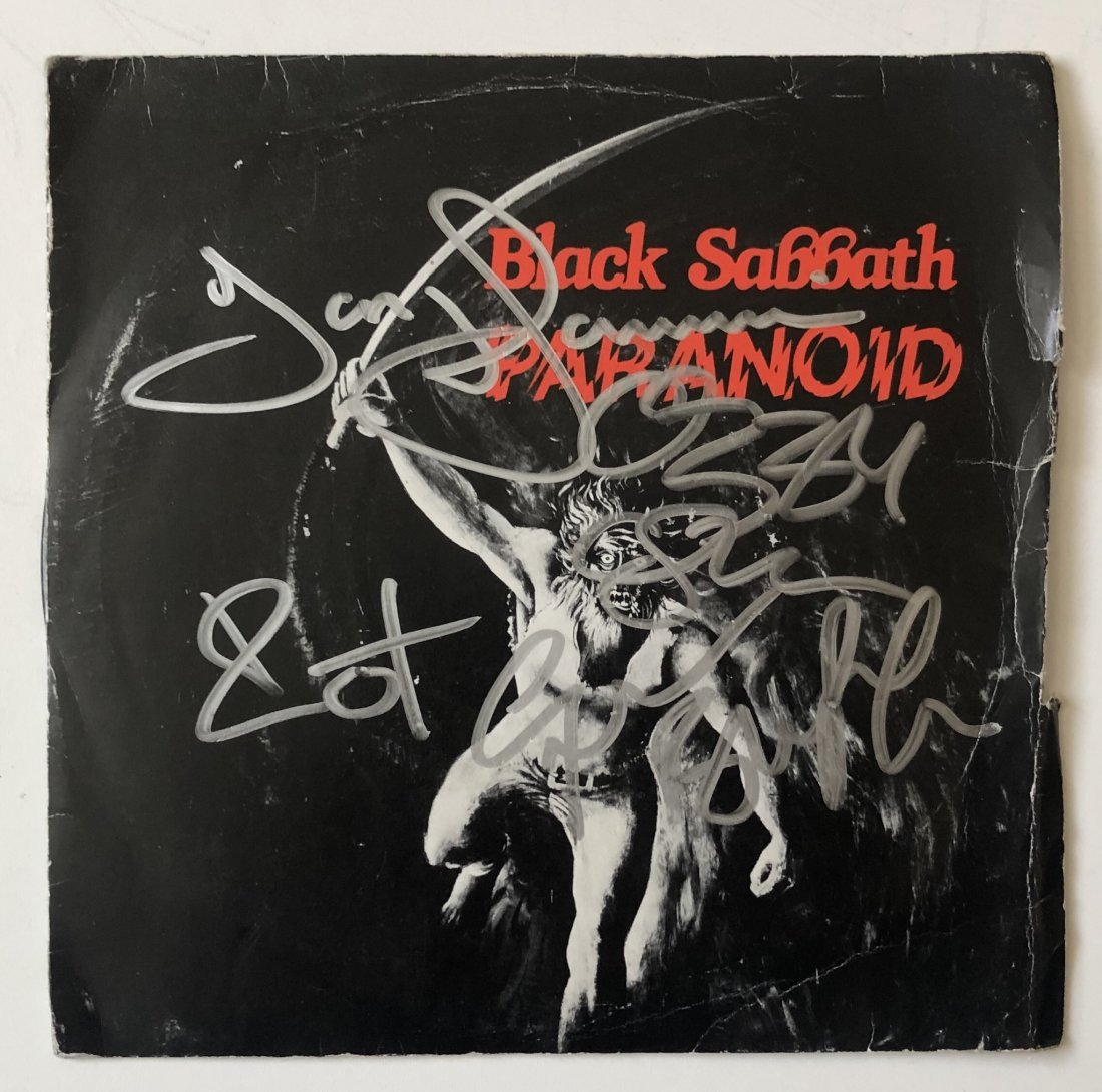 Black Sabbath Fully Signed Paranoid Vinyl Certified
