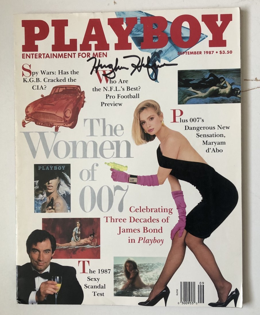 Hugh Hefner Signed September 1987 Playboy Magazine