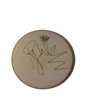 Roger Waters Pink Floyd Signed Drumskin Certified