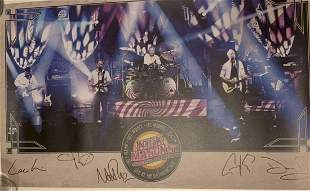 Nick Mason Signed Pink Floyd Official Poster Certified