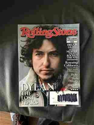 Bob Dylan Signed Rolling Stone Magazine