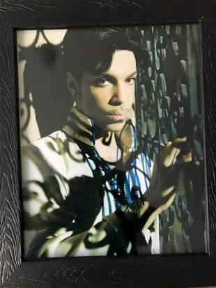 Prince Signed 8x10 Photo Framed