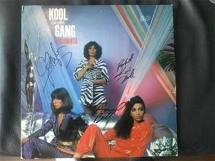 Kool and the Gang Signed Vinyl LP Certified