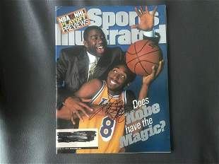Kobe Bryant And Magic Johnson Signed Sports Illustrated