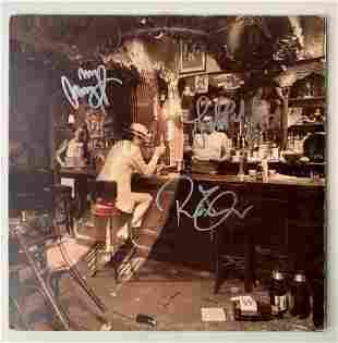 Led Zeppelin Fully Signed In Through The Out Door Vinyl