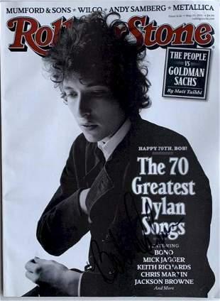 Bob Dylan Signed Rolling Stone Magazine May 2011