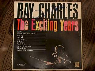 Ray Charles The Exciting Years Signed Vinyl LP