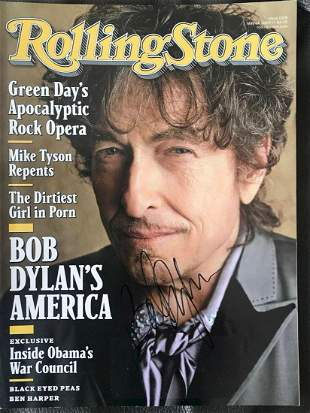 Bob Dylan Signed Rolling Stone Magazine Certified