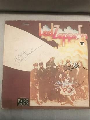 Led Zeppelin 2 Fully Signed Vintage Vinyl LP Certified