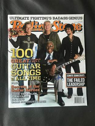 Eddie Van Halen and BB King Signed Rolling Stone
