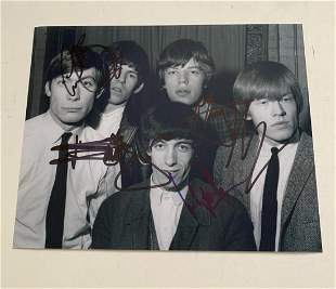 The Rolling Stones Signed Photograph Certified