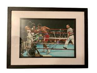 George Foreman Signed Framed Photograph Certified