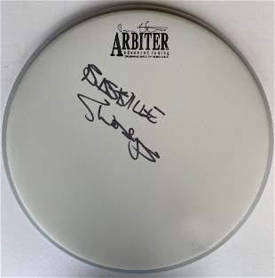 Bastille Chris Woody Wood Signed Drumskin Certified