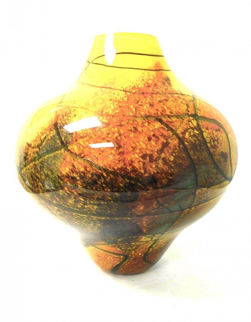 Ioan Nemtoi  Large Art Glass Studio Vase